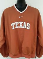 Vintage Team Nike Mens L Texas Longhorns NCAA Pullover Jacket Coat Orange EUC