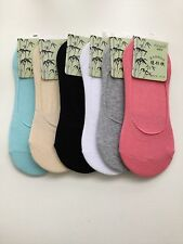 Antibacterial Breathable Ladies Women's Bamboo Invisible Shoe Liner Socks  UK