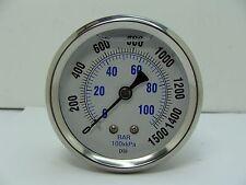 "PRO-202L-254N PRO 2.5"" Glycerin Filled SS Gauge 1/4"" NPT CBM 0/1500 psi"