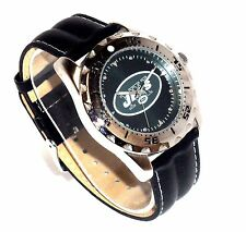 NEW YORK JETS NFL FOOTBALL SPORTS WATCH - RARE - CLASSIC LOGO! LUMINOUS HANDS