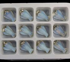 12pcs Beautiful unique Opal Opalite carved angel 21x15x7mm pendant bead lxh598