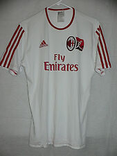 AC MILAN ITALY AUTHENTIC ADIDAS WHITE TRAINING JERSEY SMALL SIZE