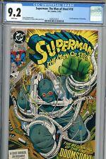 SUPERMAN THE MAN OF STEEL #18 CGC 9.2 Near Mint 1992 1ST FULL APP. Of DOOMSDAY