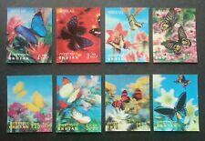 Bhutan Butterflies 1968 Insect Flower Flora (stamp) MNH *Lenticular 3D *unusual