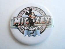 "VINTAGE 2 1/4"" PROMO PINBACK BUTTON #87-005 - DISNEY - MICKEY MOUSE 60 YEARS #1"