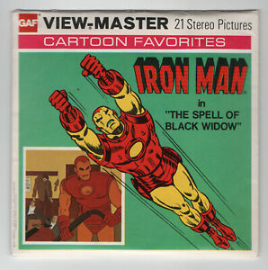 Iron Man Marvel Comics Group 1977 View-Master Packet H-44 Exc. Cond.