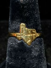 14kt Yellow Gold Nugget Texas Ring *
