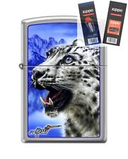 Zippo 7036 Mazzi Snow Leopard Lighter with *FLINT & WICK GIFT SET*
