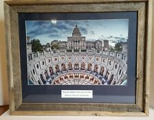 Texas 82nd Legislature State Capitol Picture Rustic Frame 19 x 23 Collectible