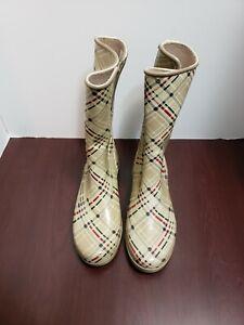 Sperry Top Sider Womens Waterproof Rubber Rain Boots Size 8