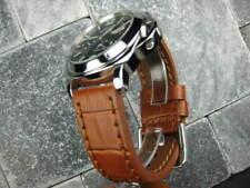 24mm BIG CROCO Leather Strap Honey Brown Thick Watch Band Belt Brown PANERAI