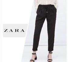 EUC Zara Collection Drawstring Tie Waist Joggers Trousers Smart Black XL