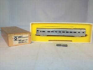 "N Scale Oriental Limited BRASS California Zephyr ""Silver Maple"" 4742 Coach Car"
