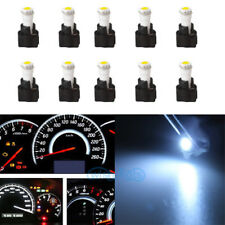 10X White LEDs Dashboard Instrument Panel Indicator Light Bulb Socket For Dodge