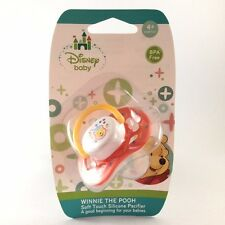 NEW! WINNIE THE POOH SILICONE PACIFIER BPA FREE 4+MONTHS DISNEY BABY UNISEX
