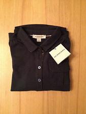 BURBERRY Langarm Polo-Shirt Mädchen dunkelblau Nova Check Gr. 116 /6 NEU