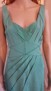 Zac Posen Green Silk Origami Dress, Immaculate Evening Dress UK 12