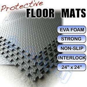 12mm HomeGym Workshop Playroom Shed Flooring Interlock Mats DARK GREY 16 Sq Ft
