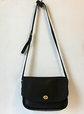 Coach USA Vintage Legacy Navy Trail Bag Turnlock Flap Shoulder Bag 0852-325