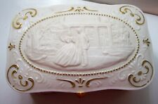50th Anniversary 24K Gold Gone With The Wind Porcelain Jewelry Music Box 1987