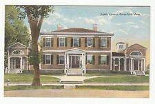 [60589] Old Postcard Public Library In Greenfield, Massachusetts