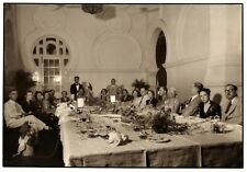 large vintage photo foto French society lunch by Lee Kuala Lumpur Malaysia 1939