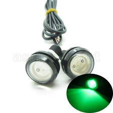 2 x Green DC12V 9W Eagle Eye LED Daytime Running DRL Backup Light Car Auto Lamp