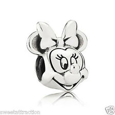 New Authentic Pandora Charm Disney Minnie Portrait 791587 Bead Box Included