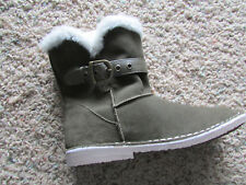 NEW SKECHERS RASCALS MID BOOTS WOMENS 8.5  SUEDE ANKLE BOOTS FUR LINED