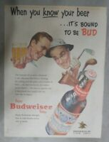 Budweiser Beer Ad: When You Know Your Beer ! from 1950's