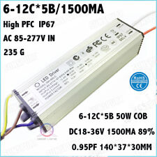 2 Pieces 50W AC85-277V IP67 LED Driver 6-10Cx5B 1500mA DC18-36V Constant Current