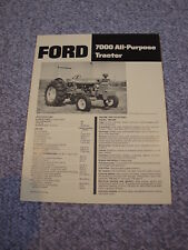 Ford 7000 All Purpose Tractor Brochure Original '73 Vintage MINT