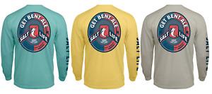 Salt Life Get Bent Ale Mens Long Sleeve Pocket Graphic T-Shirt - Large - NWT