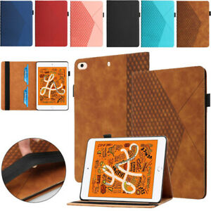 Folding Leather Smart Wallet Case Cover For iPad 9.7 10.2 Pro Air 2 3 4 Mini 5 4