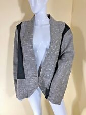 EPLISSE / TS14+ SZ 22 BLACK & TEXTURED METALLIC  FORMAL L/SL BOLERO STYLE JACKET