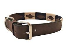fatto a mano Collare di pelle per cane decorato POLO ARGENTINA GRANDE LABRADOR