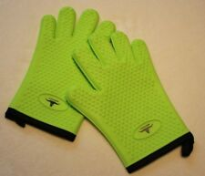 New listing Pair Silicone Heat Resistant Gloves Oven Grill Pot Holder Bbq Cooking Mitts