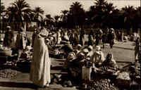 ~1930 Vintage Postcard Arabien Village Arabe Araber-Dorf Arabian Village Markt