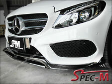 JPM II Carbon Fiber Front Lip for 2015+ W205 C250 C43 Coupe AMG Sports Bumper