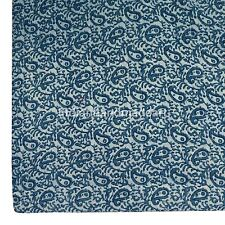 Indigo Blue Kantha Pure 100% Cotton Filled Warm Queen Size Handmade Quilt