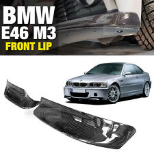 CSL Style Carbon Front Bumper Lip Skirt Body Spoiler 2P for BMW 2000-2005 E46 M3