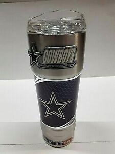 "Dallas Cowboys ""The Pro"" 32 oz Travel Tumbler with Metal Emblem"