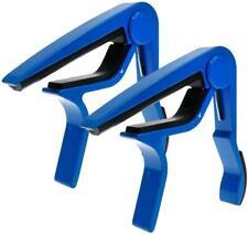 Guitar Solid Blue Painted Capo 2pcs