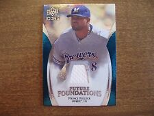 2009 Icons Prince Fielder Future Foundations Jersey #FF-PF Brewers