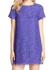 NWT Cece By Cynthia Steffe Isabelle Floral Lace Purple Shift Dress - 0P