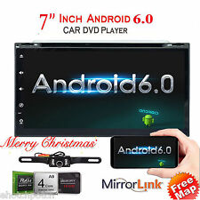 Android 6.0 Double Din Car Stereo Radio GPS Wifi 3G OBD HD Mirror Touch BT DVD