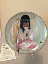 "DeGrazia Limited Edition ""A Little Prayer - Christmas Angel "" Plate Autographed"