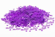 Purple Just Married Wedding Hearts Table Confetti