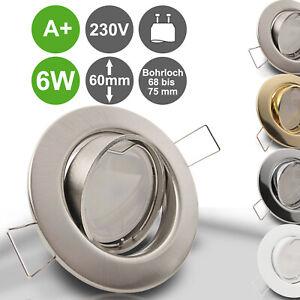 LED Einbau Strahler Leuchten Decken Spots Decken Lampen 230V Set GU10 6W DECORA