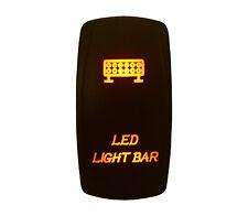 DC12V 24V LED LIGHT BAR Rocker Switch AMBER Led 5P ON/OFF SPST Waterproof IP66